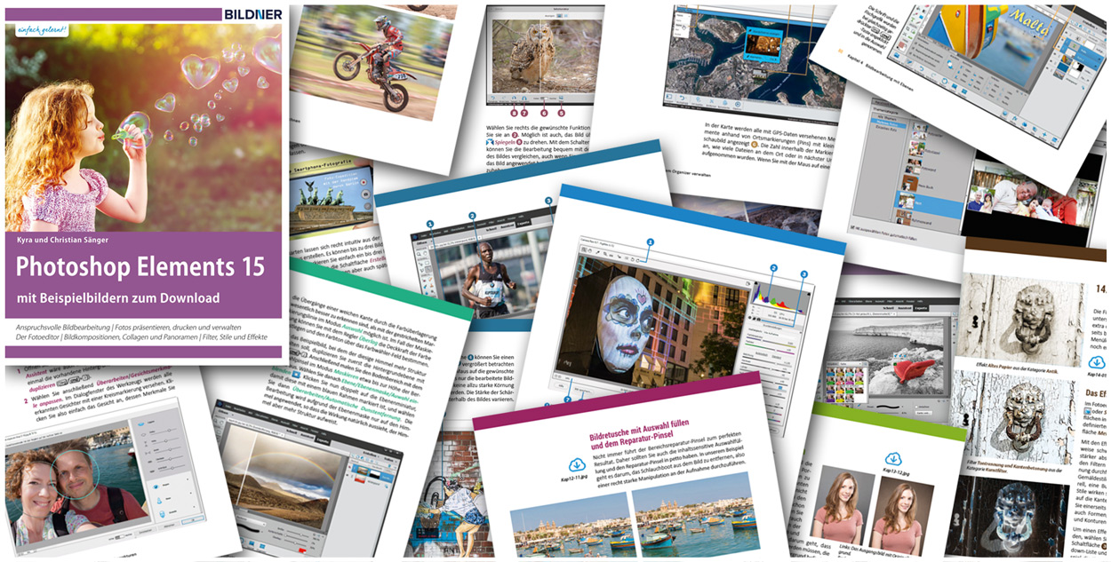 Photoshop Elements 15: Blick ins Buch